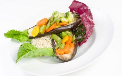 Bakłażan faszerowany warzywami