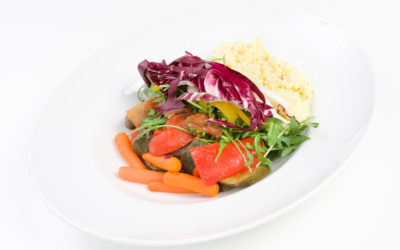 Kasza jaglana z warzywami grillowanymi
