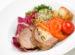 Rolada cielęca z warzywami
